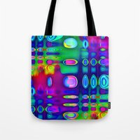 techno Tote Bags featuring TECHNO-SPOTZ by David  Gough