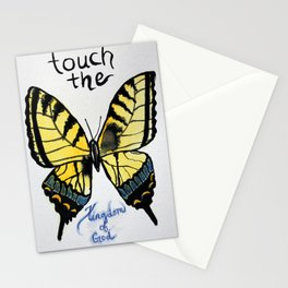 touch the kingdom tiger swallowtail butterfly Stationery Cards