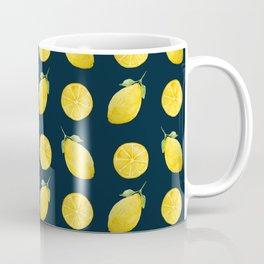 Watercolor Lemon Pattern Coffee Mug