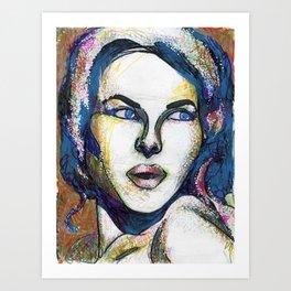 Pop Art Woman Art Print