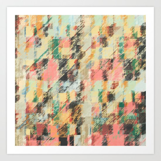 Pastel Colors Abstract Art Print