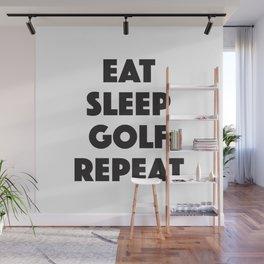 Eat Sleep Golf Wall Mural