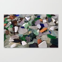 Sea Glass Assortment 6 Canvas Print