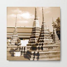 Wat Po a beautiful temple in Thailand (Bangkok & Travel) - Thai Massage School Metal Print