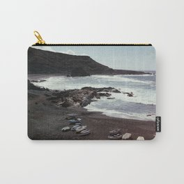 Boats on a beach Carry-All Pouch