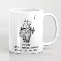 ewok Mugs featuring Ewok=Chris Farley by Chrissy Nowak