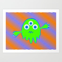 Radioactive Litte Monster Art Print