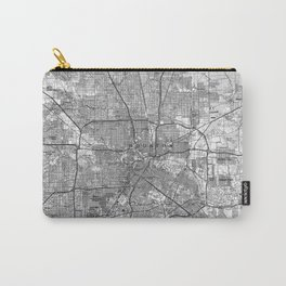 Houston Texas Map (1992) BW Carry-All Pouch