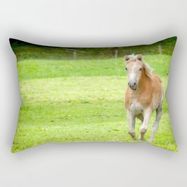 Horse in Neuschwanstein Rectangular Pillow