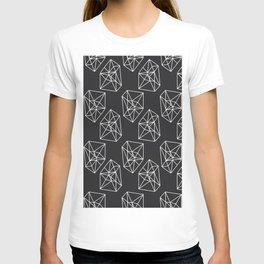 Almost Geometric Jewels Pattern #black T-shirt