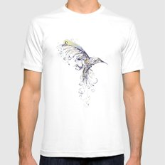 humming bird  White Mens Fitted Tee MEDIUM