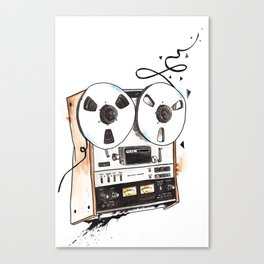Reel-to-reel tape recorder Canvas Print