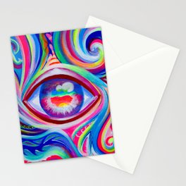 """""""Eye love you too"""" by Audreana Cary & Adam France Stationery Cards"""