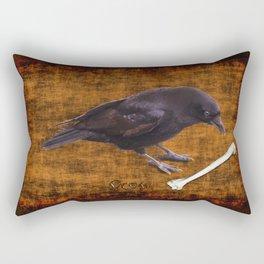 Crow & Bone Grunge Art Study Rectangular Pillow