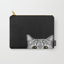 Curious Cat Peeking, Sneaky Kitty, Kitty Photography, Cat, Cats Carry-All Pouch