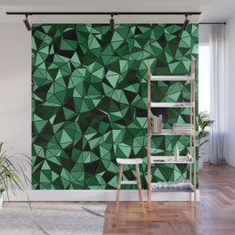 Emerald Lo Poly Wall Mural