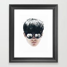Sea Boy Portrait Framed Art Print