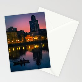 Night boating Stationery Cards