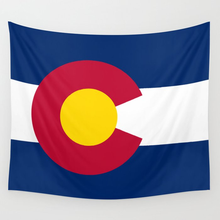 Colorado State Flag Wall Tapestry By Bauhaus Society6