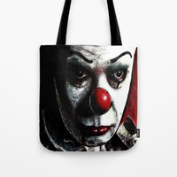 pennywise Tote Bags featuring Pennywise by Alycia Plank