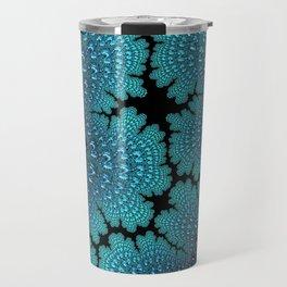 Lightening Crashes Fractal Art Travel Mug