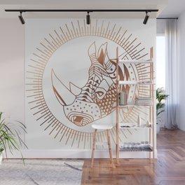 Copper Rhino Wall Mural