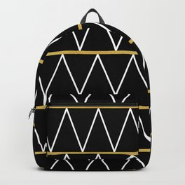 Black and gold zigzag Backpack