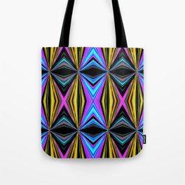 Funky Diamond Print Tote Bag