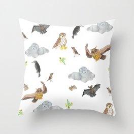 Night Creatures Throw Pillow