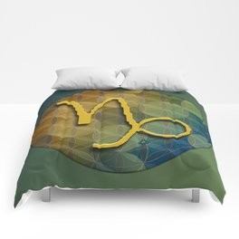 Flower of Life CAPRICORN Astrology Design Comforters