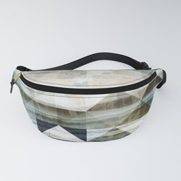 Geo Marble - Natural and Blue #buyart #marble Fanny Pack