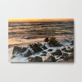 Sunset at Rancho Palos Verdes coast in California USA Metal Print