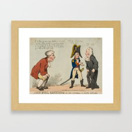 Rowlandson (Thomas) A Great Man on his Hobby Horse, Framed Art Print