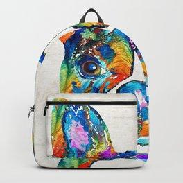Colorful Boston Terrier Dog Pop Art - Sharon Cummings Backpack