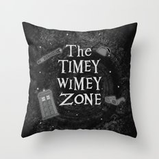 The Timey Wimey Zone Throw Pillow