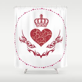King of heart Shower Curtain