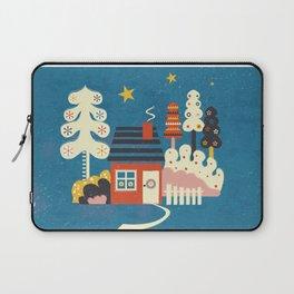 Festive Winter Hut Laptop Sleeve