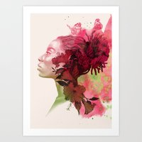 passion Art Prints featuring Passion by Magenda