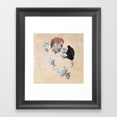 Retro Love Framed Art Print