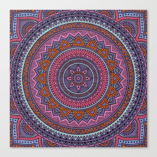 Hippie mandala 54 Canvas Print