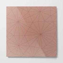 Tan Shattered Design Metal Print