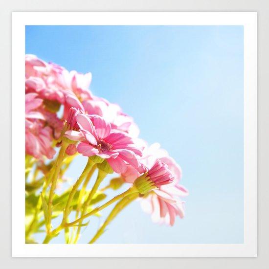 Pink Tan Art Print