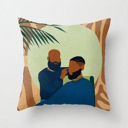 Barbershop No. 1 Throw Pillow