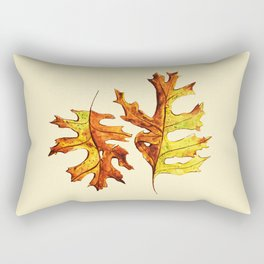 Ink And Watercolor Painted Dancing Autumn Leaves Rectangular Pillow