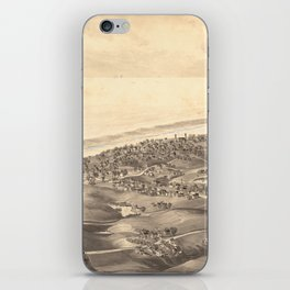 Vintage Pictorial Map of Chatham Massachusetts (1894) iPhone Skin