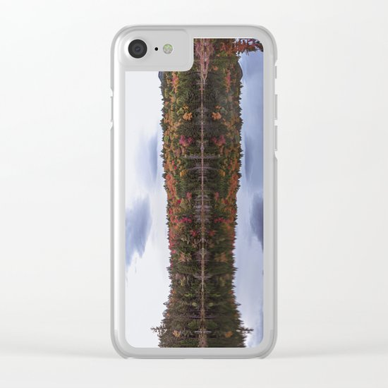 Autumn reflection Panorama Clear iPhone Case