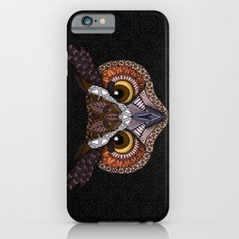 Great Horned Owl Head iPhone Case