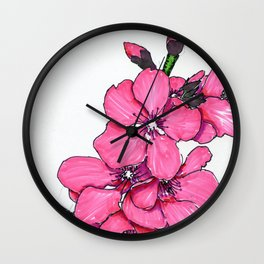 Pretty Peachy Wall Clock