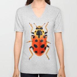 Orange Beetle Unisex V-Neck