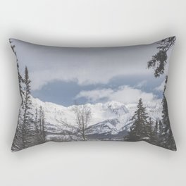 Winter Mountainscape Rectangular Pillow